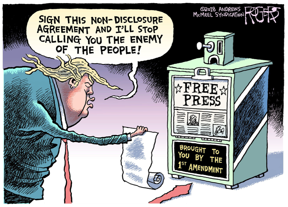 Rob Rogers Cartoon of Trump