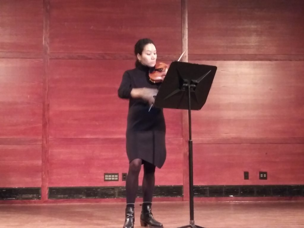 Acclaimed violinist performs Hunter students' compositions