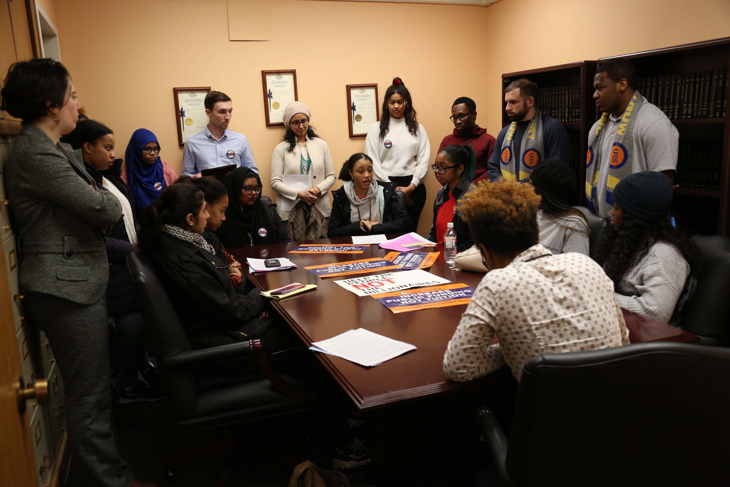Students meet with Assembly Member Myrie Zellnor's Legislative Assistant