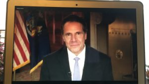 Governor Andrew Cuomo gave the opening remarks at the 2020 Jack Newfield Lecture.