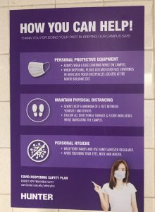 One of many new signs that dot the halls of Brookdale.
