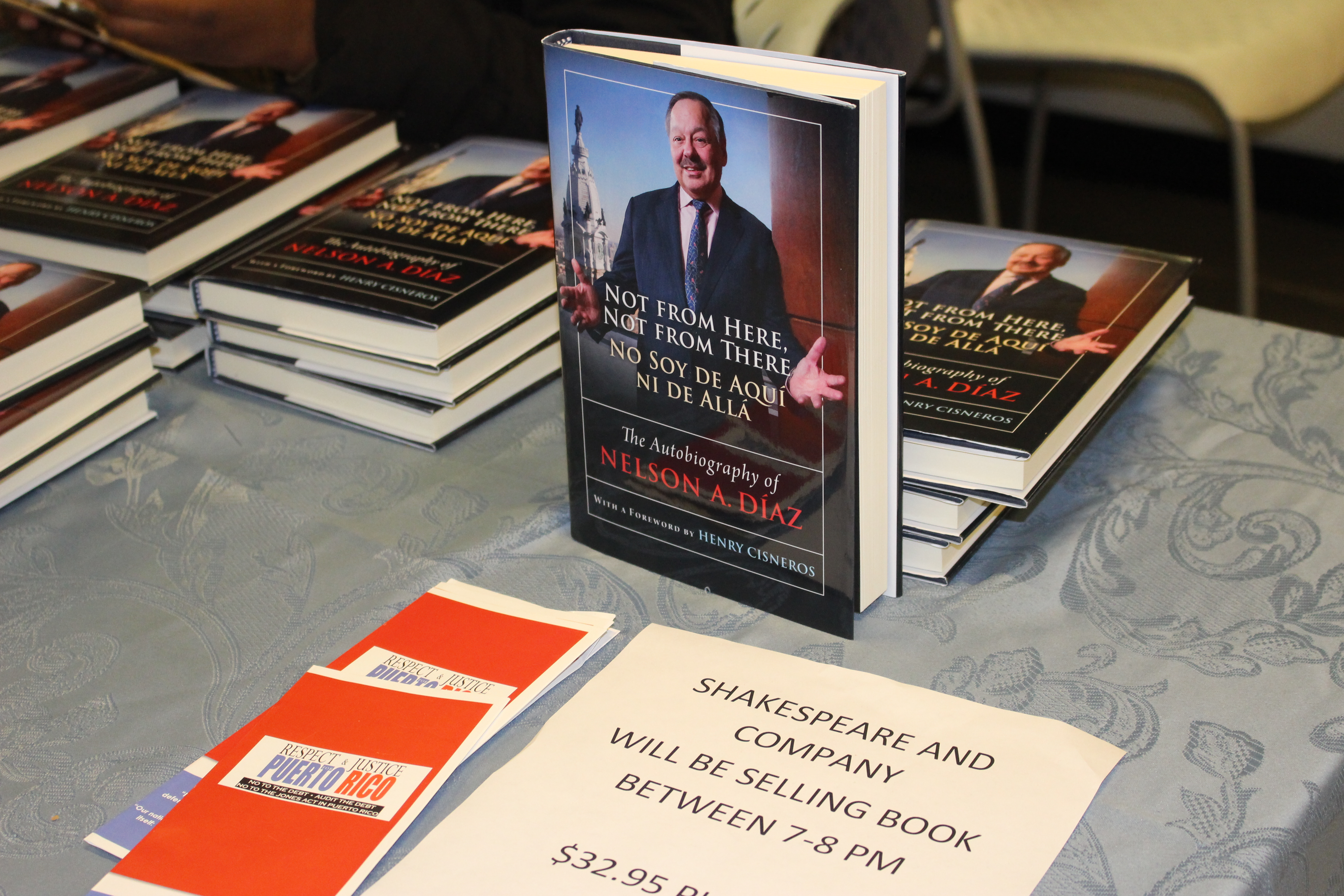 """Judge Díaz's new autobiography, """"Not from Here, Not from There""""."""