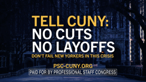 "Screenshot from PSC ""CUNY Must Do Better"" Ad"