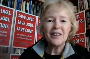 Barbara Bowen at PSC Virtual Rally