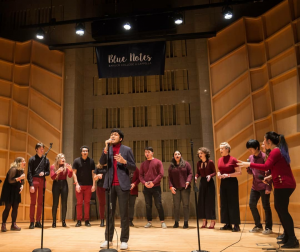 Hawkapella performs at Baruch's annual acapella showcase