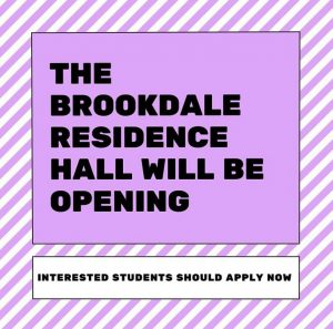 Hunter USG posts an announcement on Instagram about Brookdale dormitory accepting applications
