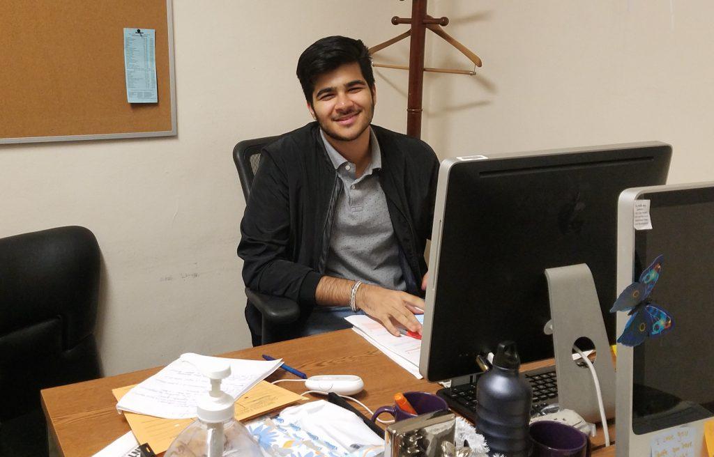 Hunter USG President, Intzar Singh
