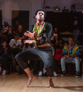 Isaac Williams at a cultural event in February. Photo courtesy of Williams.