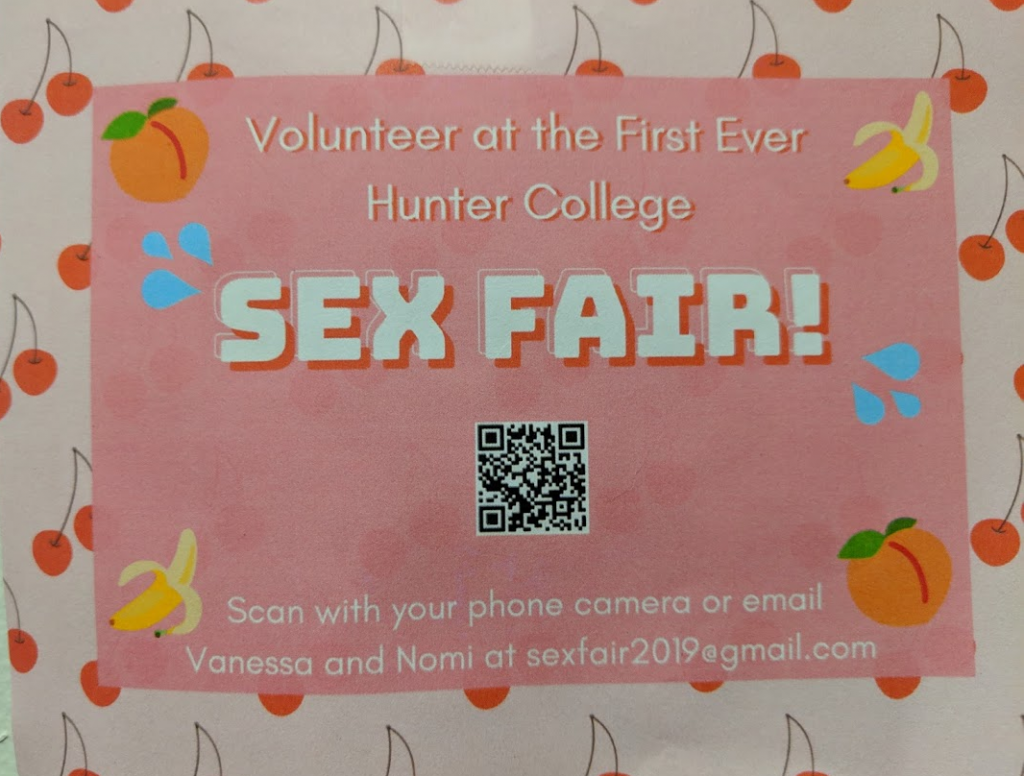The sign plastered all over school for the event.
