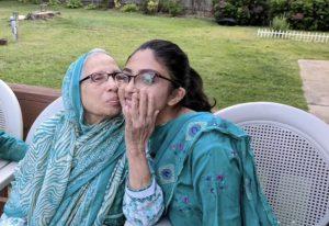 Yusra Ashraf with her grandmother.
